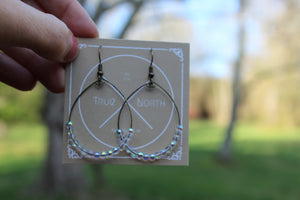 Dainty Iridescent Bubble Hoop Earrings