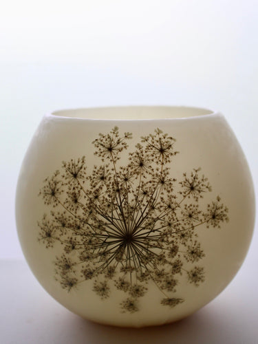 Queen Anne's Lace Beeswax Luminary