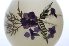 Load image into Gallery viewer, Larkspur, Fern & Japanese Maple Beeswax Luminary