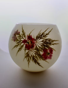 Larkspur, Lace-Leaf & Japanese Maple Beeswax Luminary