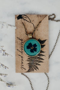 Dried Florals + Resin Necklace