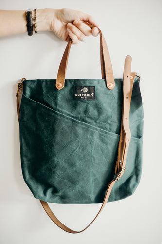 The Gaskill Crossbody + Leather - Emerald