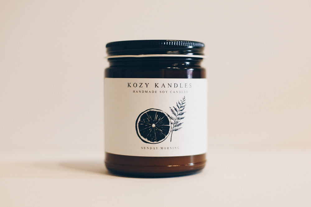 Sunday Morning - Kozy Kandles 9 oz. Soy Candle