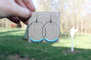 Turquoise Dyed Howlite Hoop Earrings