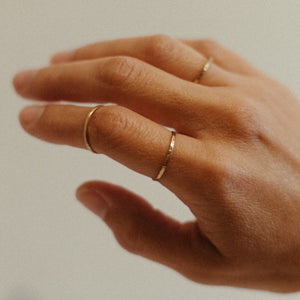 Minimal Textured Brass Stacking Ring