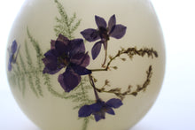 Load image into Gallery viewer, Larkspur, Fern & Silver Vine Beeswax Luminary