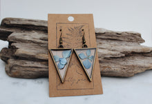 Load image into Gallery viewer, Hydrangea Triangle Earrings