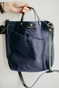 The Gaskill Crossbody + Leather - Indigo