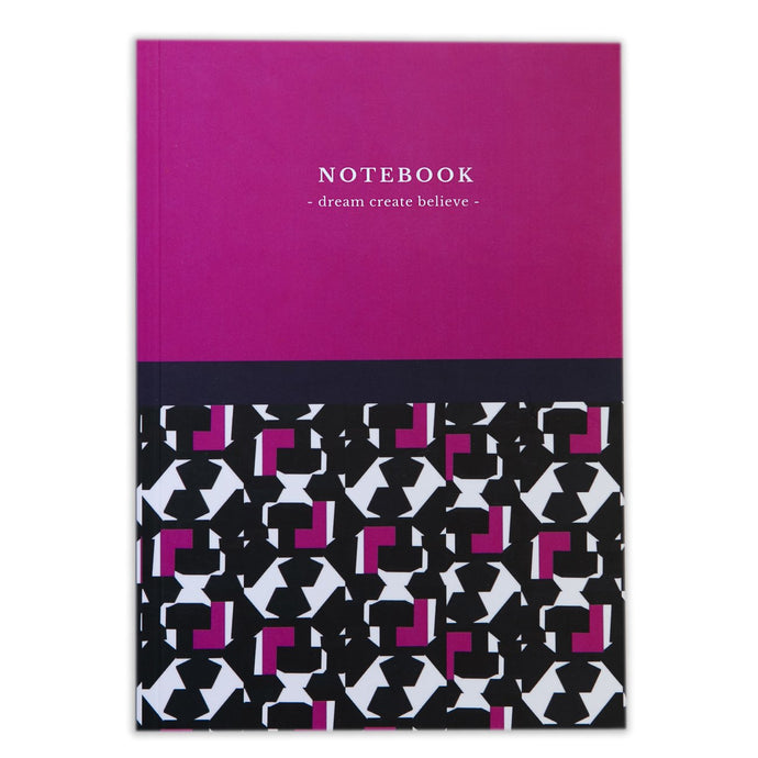 Geometric Beat Pink Notebook