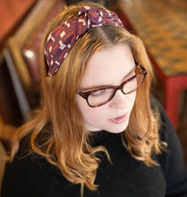 Load image into Gallery viewer, Berry Jigsaw Headband - Kate Whyley