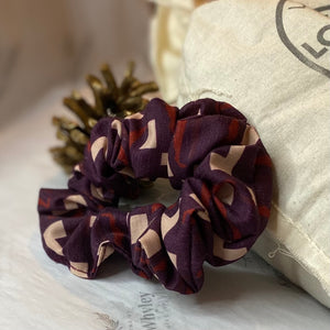 Berry Jigsaw Scrunchie