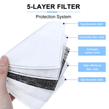 5-Layers Filter Face Mask