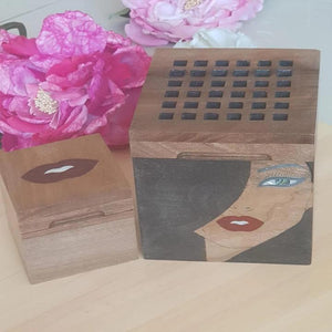 Set Of Wooden Incense Burner & Wooden Bukhor Box - www.alabalii.com