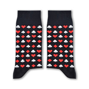 Cards Socks (Black) - www.alabalii.com