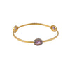 Amethyst Zircon Set Textured Bangle Sterling Silver - www.alabalii.com