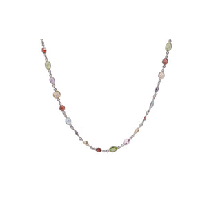 Multicolored Tourmaline Lariat Sterling Silver - www.alabalii.com