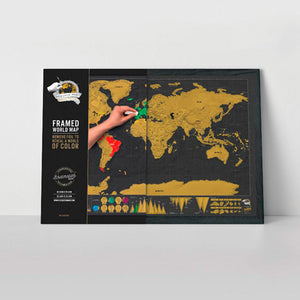 FRAMED DELUXE MAP (Black wood ) - www.alabalii.com
