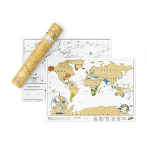 SCRATCH MAP - TRAVEL EDITION (Small Yellow ) - www.alabalii.com