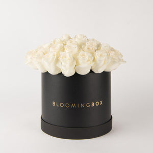 Large Black Box White Roses By Bloomingbox - www.alabalii.com