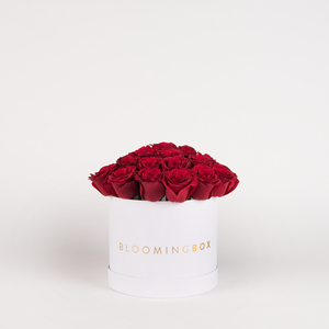 Medium White Box Red Roses By Bloomingbox - www.alabalii.com