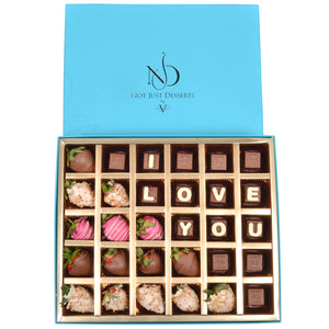 Customized Chocolates and Strawberries by NJDLove Box by NJD - www.alabalii.com