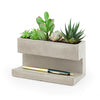 CONCRETE DESKTOP PLANTER LARGE - www.alabalii.com