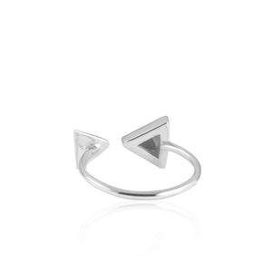 Triangular Ring Sterling Silver - www.alabalii.com