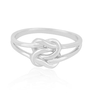 True Lover's Knot Ring Sterling Silver - www.alabalii.com