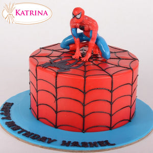 Birthday cake Spiderman 001 - www.alabalii.com