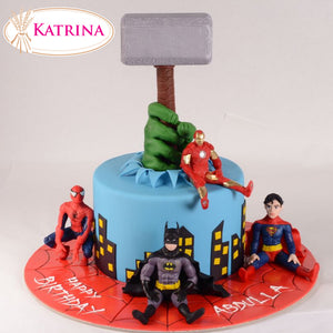 Birthday cake Superheroes 001 - www.alabalii.com