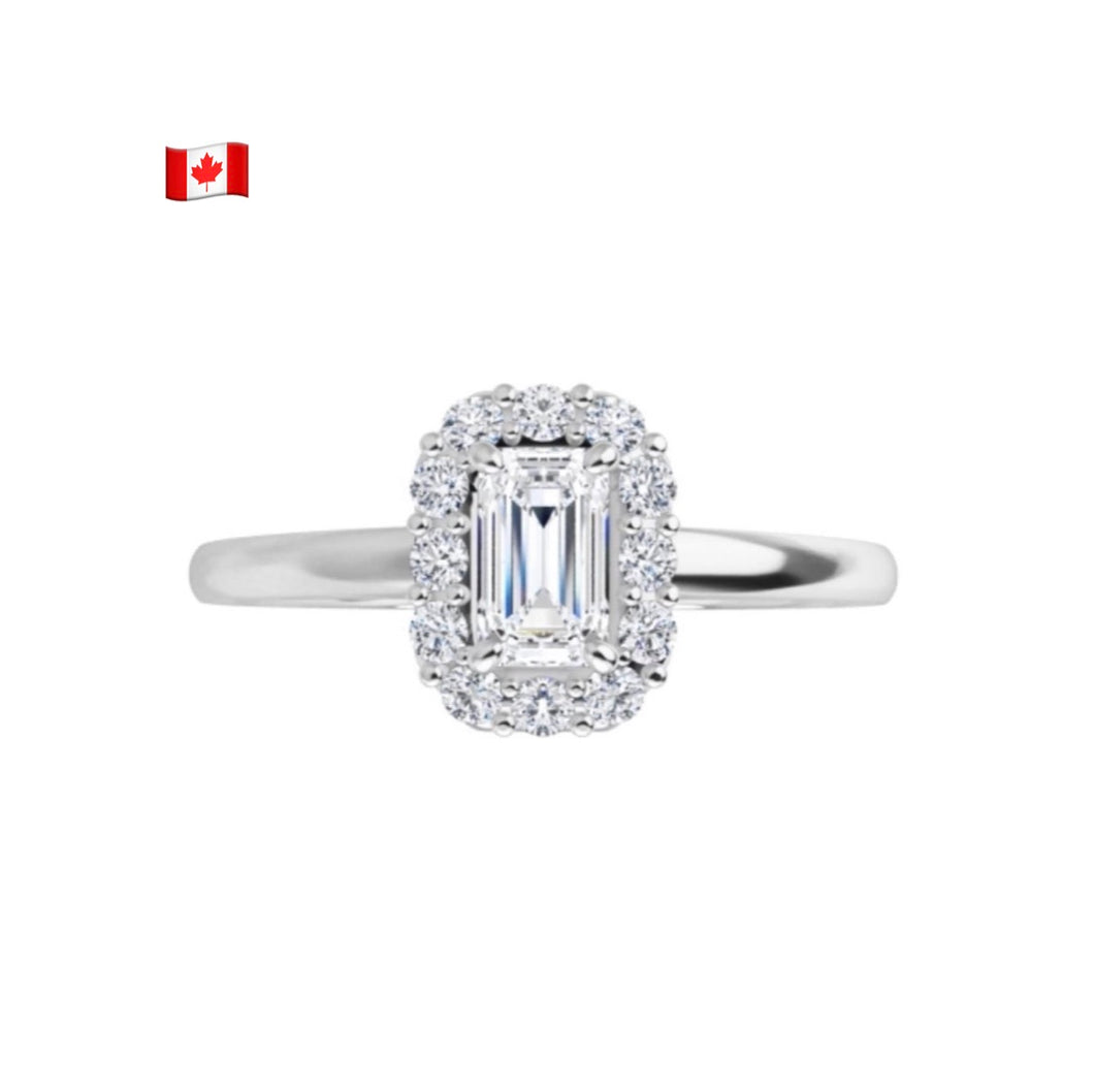 Polar Bear Canadian Diamond Halo Ring