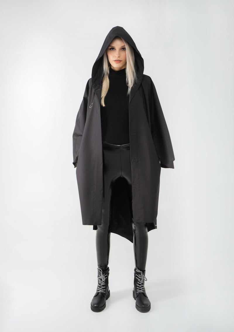 Women's Black Nebula Raincoat | Generation II