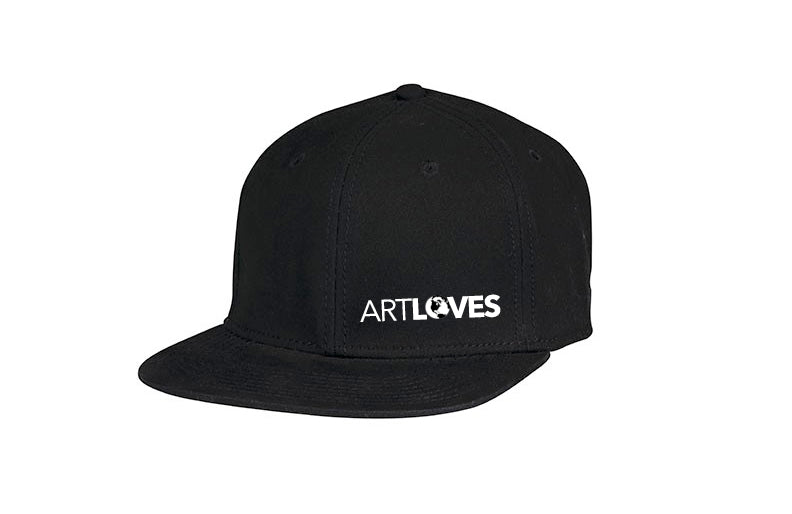 Art LOVES Earth Black Fitted Cap (One Size)
