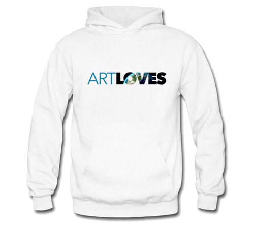 Art Loves Earth Tri-Blend Logo Hoodie (White)