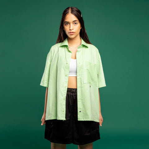 GREEN RE-WORK SHIRT