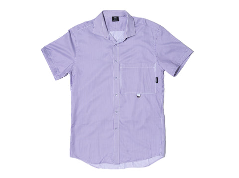 LILAC STRIPE RE- WORK SHIRT