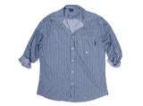NAVY STRIPE RE- WORK SHIRT