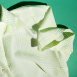 LIME GREEN RE- WORK SHIRT