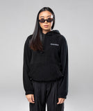 THE GIRLFRIEND POLAR HOODIE- BLACK