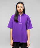 ZIP POLO- PURPLE