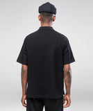 ZIP POLO- BLACK