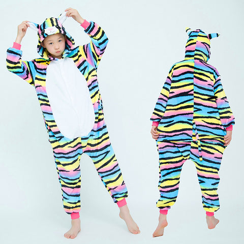 Kigurumi chat multicolore enfant