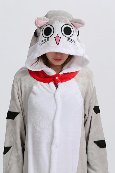 capuche chat kigurumi adulte