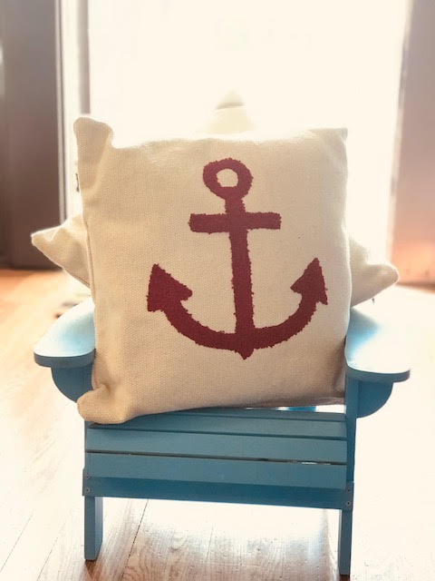Red Anchor Pillow