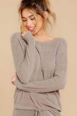 Barefoot Dreams - Slouchy Pullover BEACH ROCK