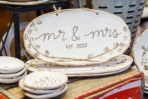 Etta B - Bridal Collection:  Mr. & Mrs. Tray