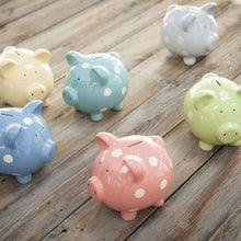 Load image into Gallery viewer, Polka Dot Piggy Bank