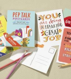 Pep Talk Postcards - set of 20