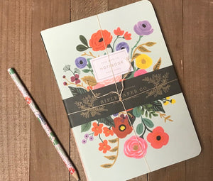 Rifle Paper Co - Garden Party stitched notebook set