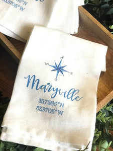 Summertime in Maryville - tea towel